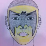 Cara pintada de batman