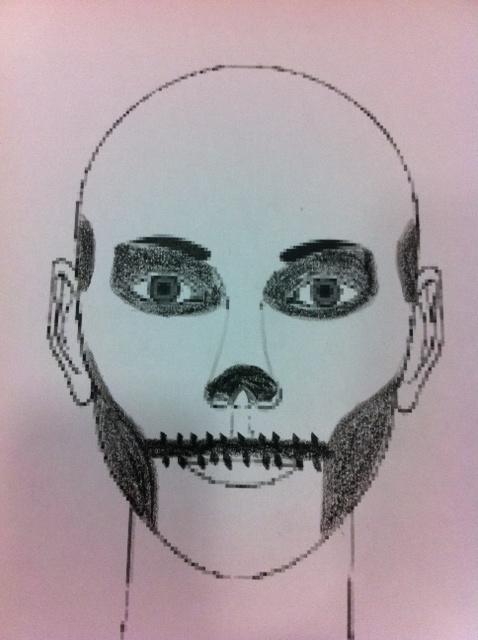 Cara Pintada De Calavera Para Halloween - Cara-pintada-para-halloween