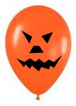Adornos de calabaza y fantasmas con globos para halloween - Adornos halloween caseros ...