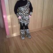 Disfraz de troglodita casero para niña