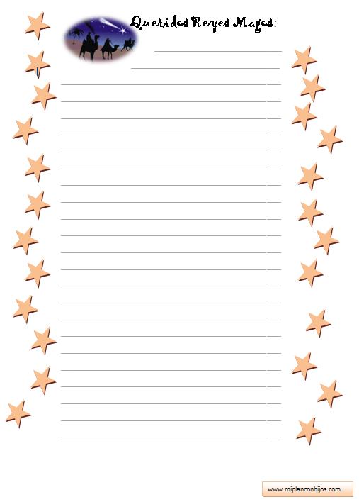 ejemplo de carta para reyes magos