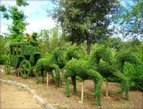 Un jard n con esculturas vegetales el bosque encantado for Jardin botanico el bosque encantado