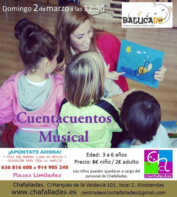 cuentacuentos musical para niños en alcobendas batucado