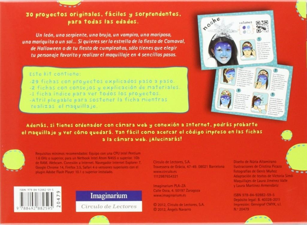 libros maquillaje de fantasia caja fichas atril 1