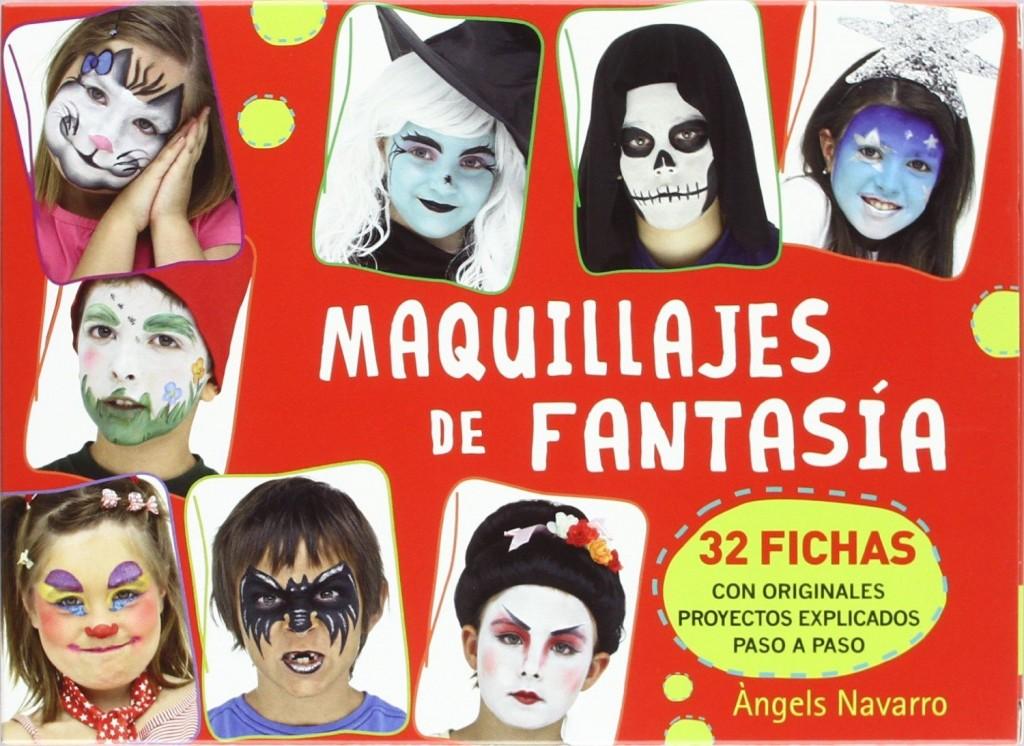 libros maquillaje de fantasía cajas fichas y atril