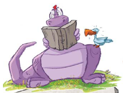 Mumú romualdo leopoldo tercero personaje del libro infantil Dinoamigos