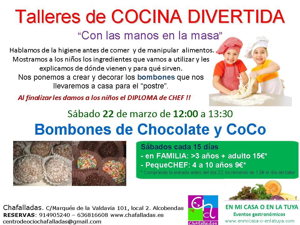 Taller infantil de bombones de chocolate y coco en alcobendas - Talleres de cocina infantil ...