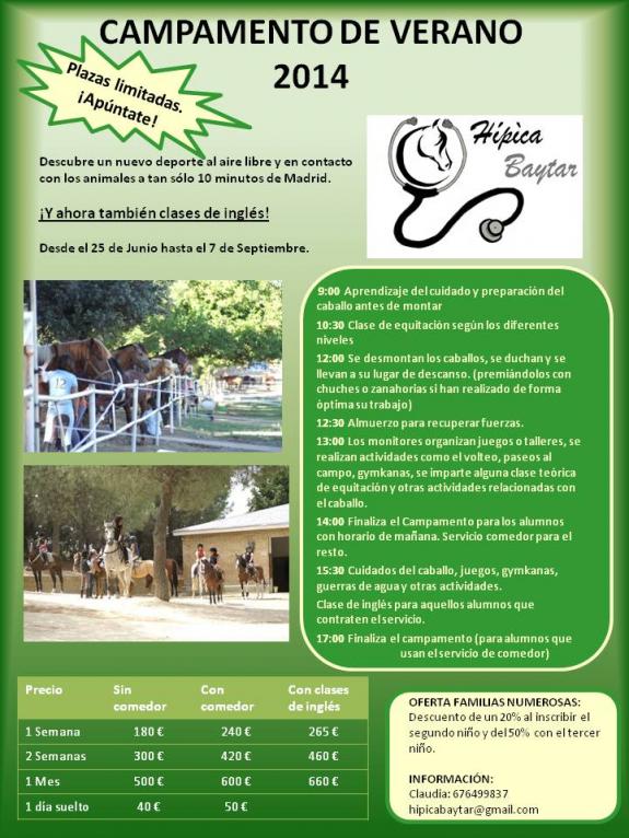 campamento cerano 2014 hipica ingles madrid