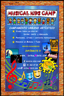 campamento verano 2014 madrid musical kids camp