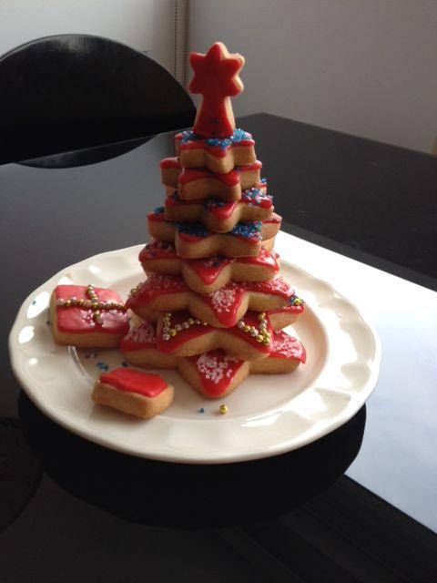 cómo preparar un árbol de navidad con galletas