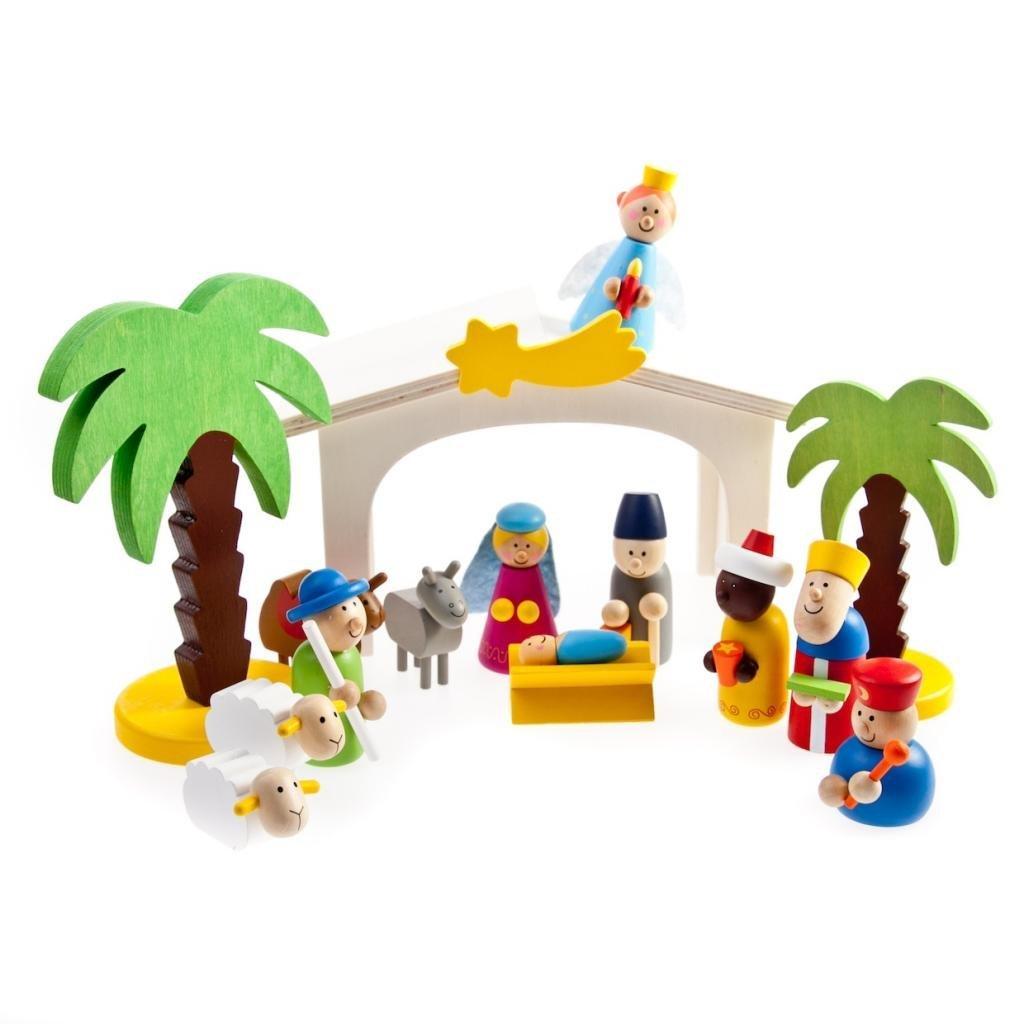 belén de juguete de madera para niños