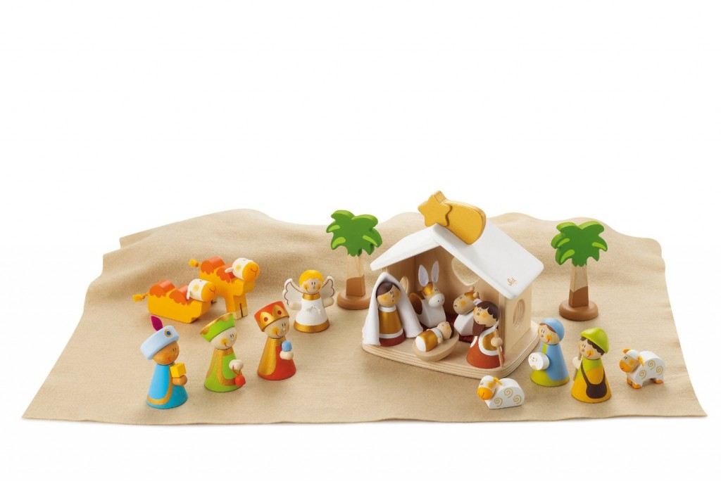 belén de madera para niños