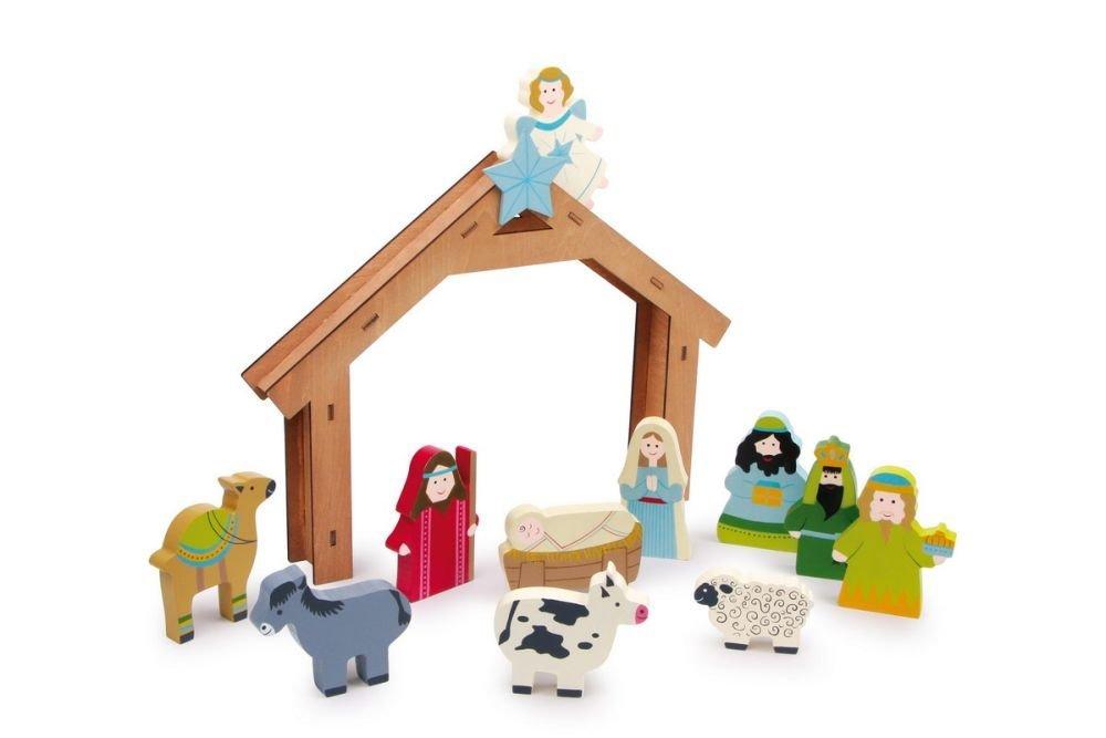 belén de juguete de madera