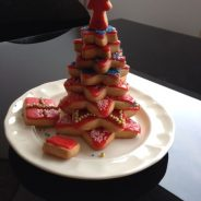Árbol de Navidad con galletas