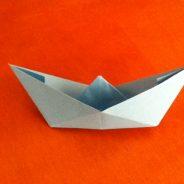 Barco de papel sencillo