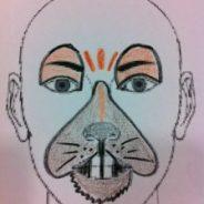 Cara pintada de ratón para carnaval
