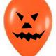 Adornos de calabaza y fantasma con globos para halloween