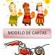 Modelos cartas personalizadas Reyes Magos y Papá Noel
