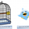 El juego del pájaro en la jaula, truco visual