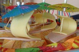 Presentaciones originales de comida para niños: «Barcos de jamón y queso»