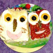 """Presentaciones originales de comida para niños: """"Caras divertidas"""""""