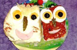 Presentaciones originales de comida para niños: «Caras divertidas»