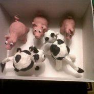 Figuras de animales con plastilina para belén